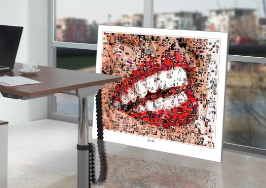 Lippenbilder - Lippenkunst, Phantastische Lippen, schöne Zähne, erotische Lippen, rote Lippen, Lippen, perfekte Zähne, schöne Lippen, Kunst, Galerie, zeitgemäße-Kunst, moderne-Pop Art, Lippenkunst, Zahnkunst, Zahnpraxis, Wartezimmerkunst, Kunst Zahnarztpr