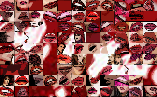 erotische Lippen, rote Lippen, Lippen,