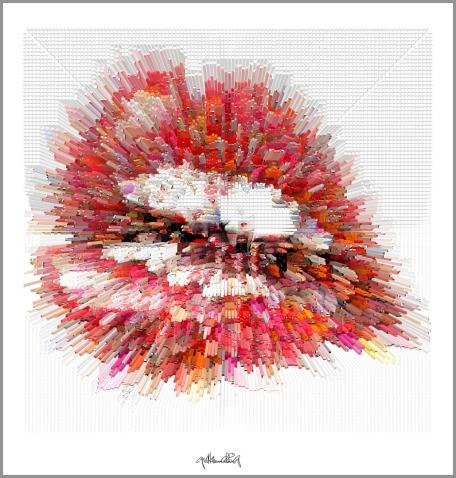 erotische Lippen, rote Lippen, Lippen, perfekte Zähne, schöne Lippen, Kunst, Galerie, Kunst für Zahnarztpraxen,