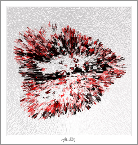 Kunst, Galerie, zeitgemäße-Kunst, moderne-Pop Art, Lippenkunst,