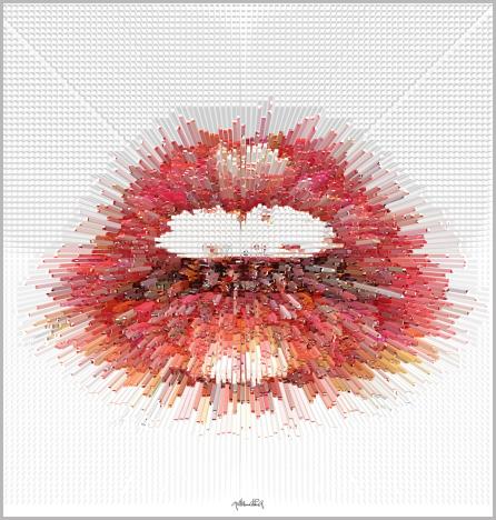 Wandbild Wartezimmer,  Kunst, Galerie, zeitgemäße-Kunst, moderne-Pop Art, Lippenkunst,