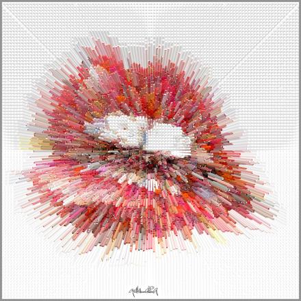 Wandbilder für Zahnärzte und Zahnpraxen,  perfekte Zähne, erotische Lippen, rote Lippen, Lippen, schöne Lippen,