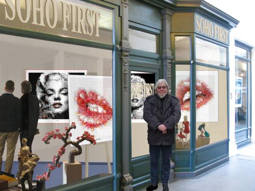 Rote Lippen, Kunst Zahnarztpraxen, Bilder Zähne, Wandbild Wartezimmer, Galerie Art fair