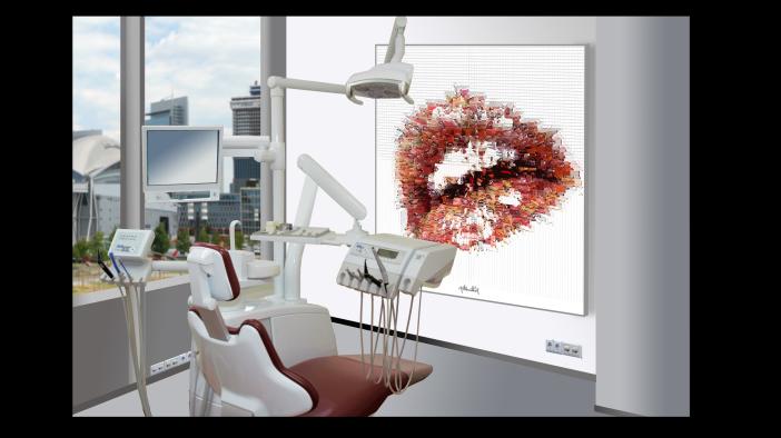 Wandbild, Zähne, Kunst Zahnarztpraxen, Kunst Zahnarzt, Zahn-Kunst, Zahnarzt Wartezimmer, Kunst für Zahnärzte,