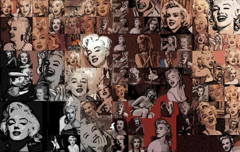Marilyn, Marilyn Monroe, Marilyn Portrait, Fotografie, moderne Pop Art, Pin Up , Wandbild