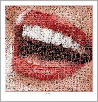 schöne Zähne, perfekte Zähne, erotische Lippen, rote Lippen, Lippen, perfekte Zähne, schöne Lippen, Kunst, Galerie, zeitgemäße-Kunst,