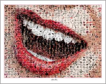 Lippen-Kunst, Bilder für Zahnarztpraxen, Lippenposter Wandbilder Zahnarztpraxen, Rezeption,