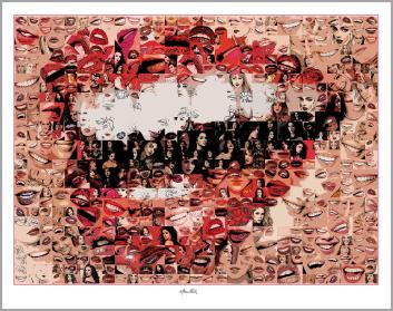 Kunst, Galerie, zeitgemäße-Kunst, moderne-Pop Art, Lippenkunst, Zahnkunst, Zahnpraxis, Wartezimmerkunst, Erotische Lippen, Lippenerotik,