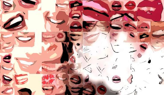 Phantastische Lippen, schöne Zähne, perfekte Zähne, erotische Lippen, rote Lippen, Lippen, perfekte Zähne, schöne Lippen,