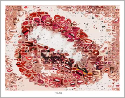 schöne Lippen, Kunst, Galerie, zeitgemäße-Kunst, moderne-Pop Art, Lippenkunst, Zahnkunst, Zahnpraxis, Wartezimmerkunst, Kunst Zahnarztpraxen, Kunst Zahnarzt, Zahn-K