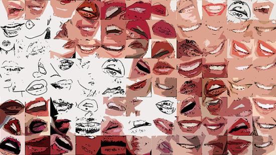 Phantastische Lippen, schöne Zähne, Bilder fürs Wartezimmer, Vernissage, Kunstausstellung, Bild Kunstausstellung,