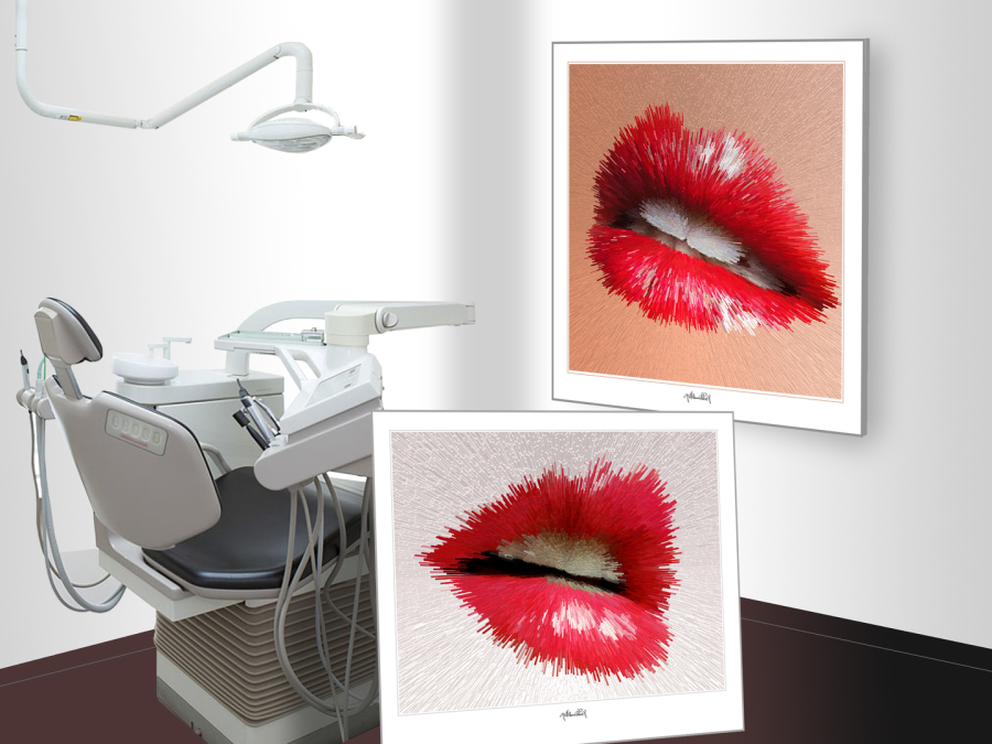 schöne Zähne, Kunst für zahnarztpraxen