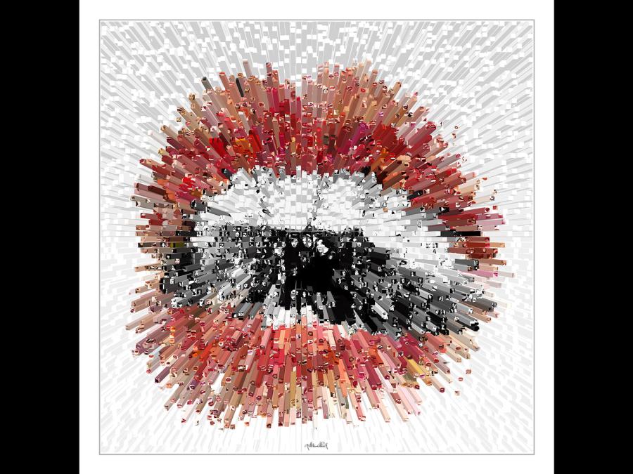 Lippen-Kunst, Bilder für Zahnarztpraxen, Lippenposter