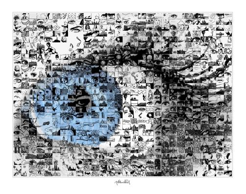 Blaue Augen, Kunst, Augenarzt, Wanbild