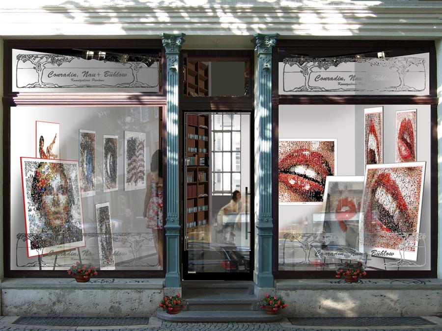 Galerie, Kunstgalerie, Vernissage, Kunst mit Lippen, Kunstausstellung, Ausstellung, Lippenbilder