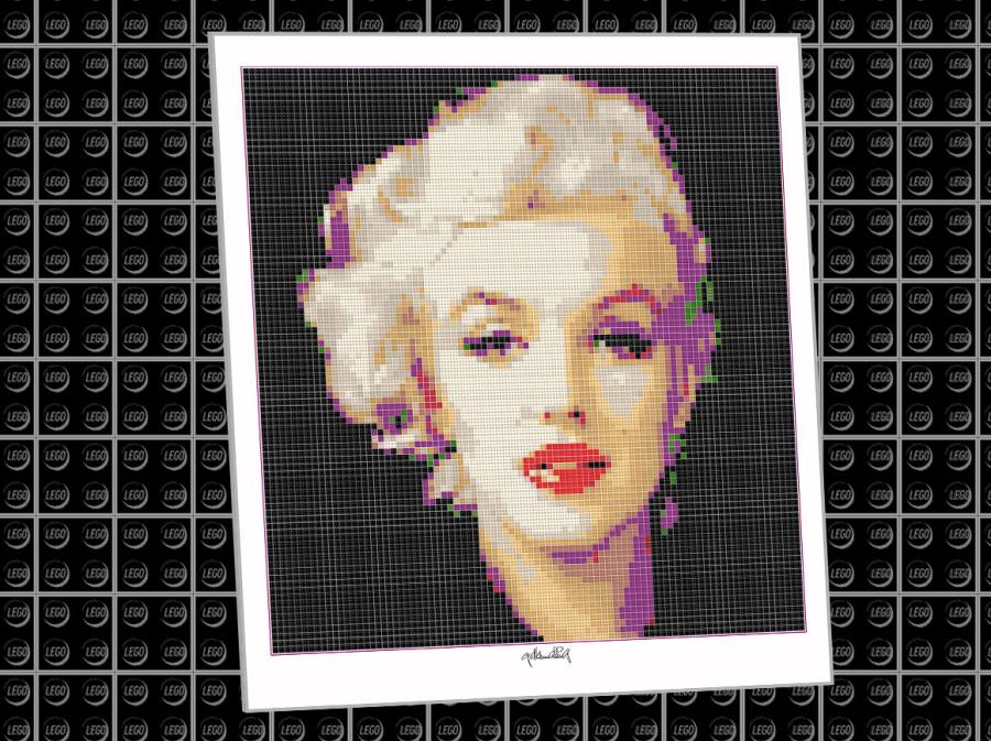Lego Kunstobjekt, Kunst mit LEGO Steinen, LEGOART