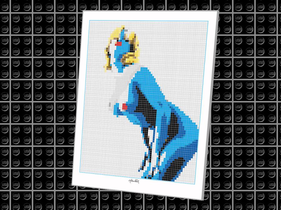 ego Kunstobjekt, Kunst mit LEGO Steinen, LEGOART