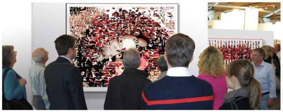 Kunstausstellung, Art fair, Galerie, Kunstgalerie, Vernissage, Kunst mit Lippen