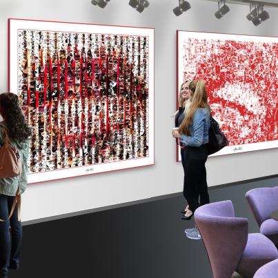 Kunstausstellung, Art fair, Ausstellung, Lippenbilder, Kunstgalerie, Kunstgalerie, Vernissage, Kunst mit Lippen,