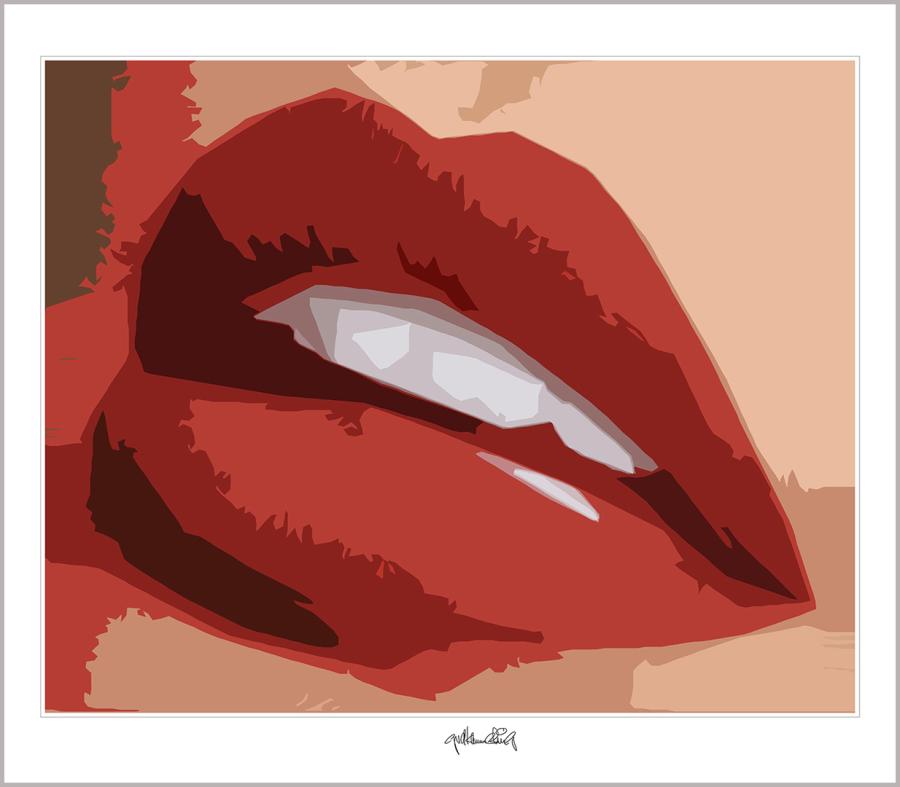 Phantastische Lippen, schöne Zähne, perfekte Zähne, erotische Lippen, rote Lippen, Lippen, perfekte Zähne