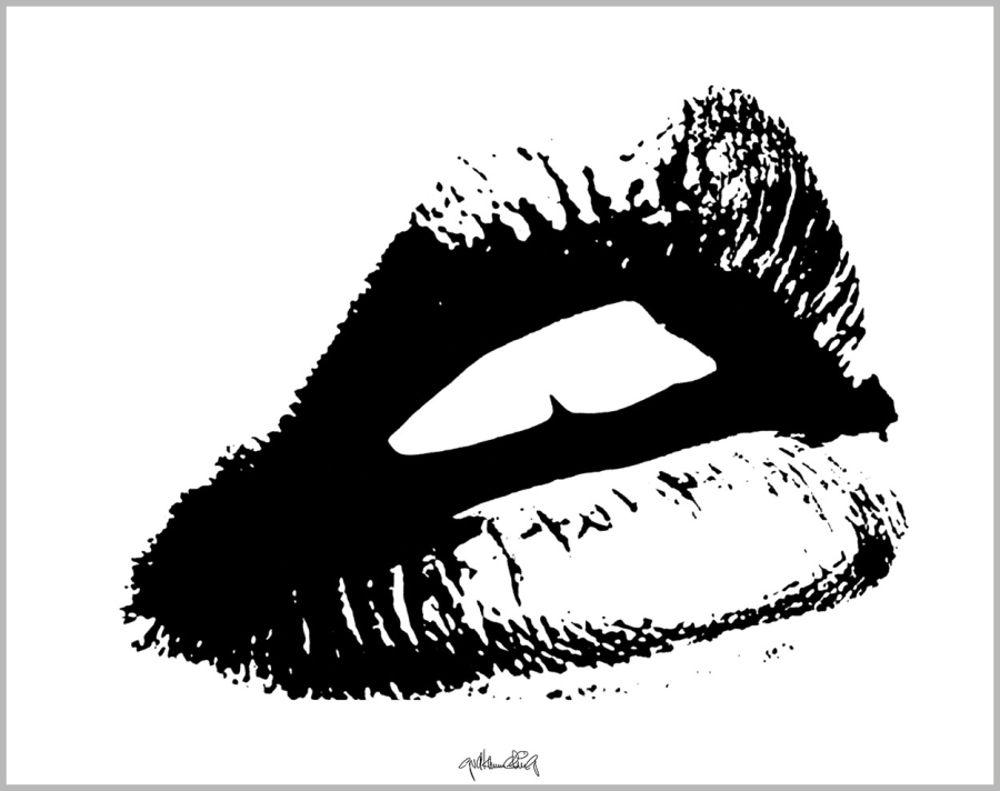 schöne Zähne, Zahnkunst, Zahnpraxis, Wartezimmerkunst, Erotische Lippen, Lippenerotik,