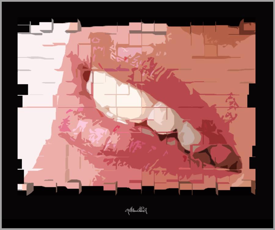Phantastische Lippen, schöne Zähne, perfekte Zähne, erotische Lippen, rote Lippen, Lippen, perfekte Zähne, schöne Lippen, Lippenkunst, Zahnkunst, Zahnpraxis, Wartezimmerkunst, Kunst Zahnarztpraxen, Kunst Zahnarzt, Zahn-Kunst, Zahnarzt Wartezimmer