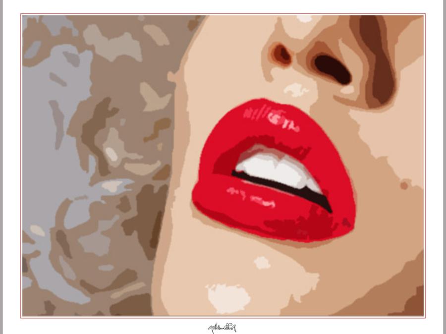 Phantastische Lippen, schöne Zähne, perfekte Zähne, erotische Lippen, rote Lippen, Lippen, perfekte Zähne, schöne Lippen, Lippenkunst, Zahnkunst, Zahnpraxis, Wartezimmerkunst, Kunst Zahnarztpraxen, Kunst Zahnarzt, Zahn-Kunst,