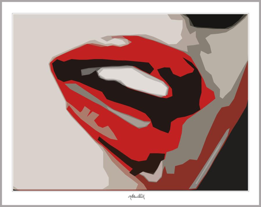 Rote Lippen, Kunst Zahnarztpraxen, Bilder Zähne, Wandbild Wartezimmer