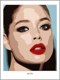 Portrait, rote Lippen
