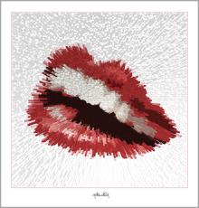 Galerie, Kunstgalerie, Vernissage, Galerie, Kunstgalerie, Vernissage, Kunst mit Lippen Phantastische Lippen, Lippenbilder, Lippenposter,