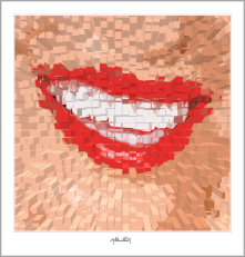 Kunst für Zahnärzte, rote Lippen, Wandbilder für Zahnärzte und Zahnpraxen, Kunst Zahn,  rote Lippen, Kunst und Zähne, Lippen und Kunst, Lippen-Kunst, Bilder für Zahnarztpraxen,
