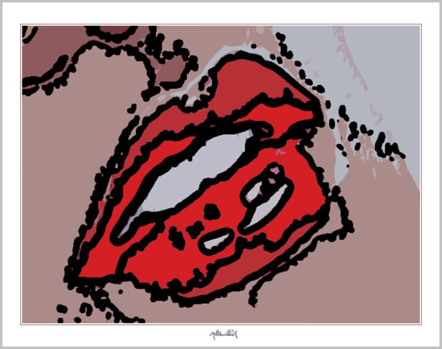 moderne-Pop Art, Lippenkunst, Zahnkunst, Zahnpraxis, Wartezimmerkunst, Erotische Lippen, Lippenerotik