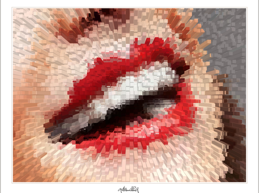 schöne Lippen, Lippenkunst, Zahnkunst,
