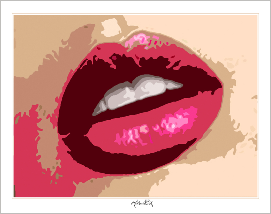perfekte Zähne, erotische Lippen, rote Lippen,