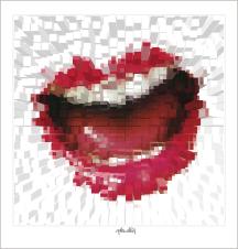 Lippenkunst, Zahnkunst, Kunst Zahnarztpraxis