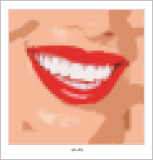 moderne-Pop Art, Lippenkunst, Zahnkunst, Zahnpraxis, Wartezimmerkunst, Erotische Lippen,
