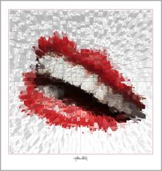 Galerie, Kunstgalerie, Vernissage, Galerie, Kunstgalerie, Vernissage, Kunst mit Lippen