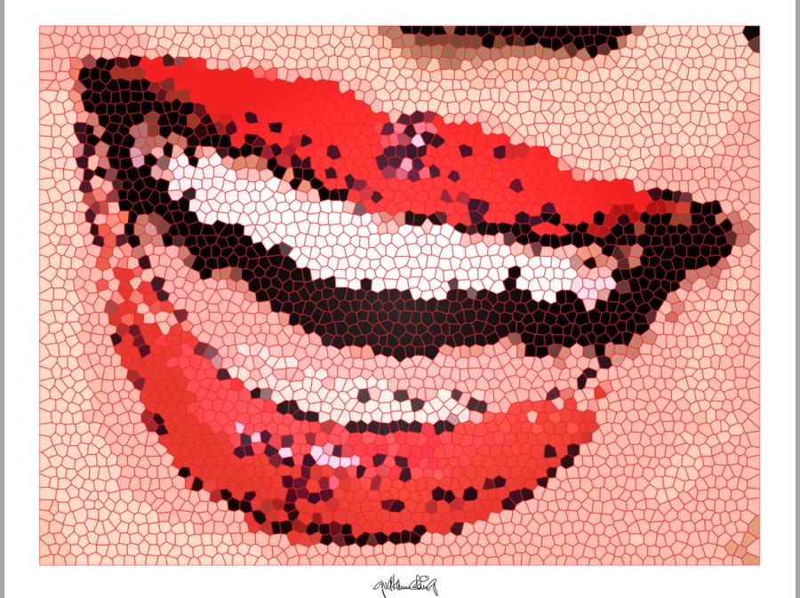 rote Lippen, Kunst und Zähne, Lippen und Kunst, Lippen-Kunst, Bilder für Zahnarztpraxen,