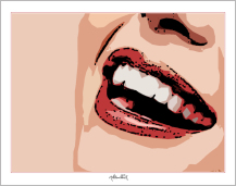 rote Lippen, Lippen, schöne Lippen, Wandbilder Wartezimmer, Zahnarzt
