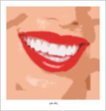 perfekte Zähne, perfekte Lippen,