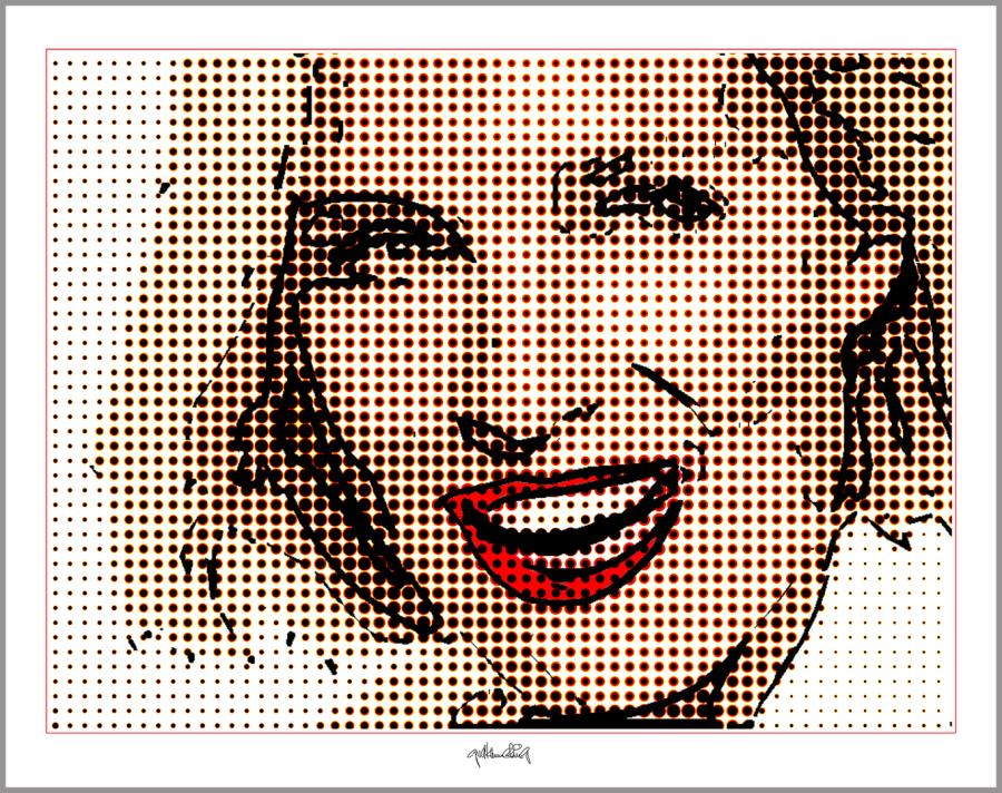 Portrait, Wandbild, Kunstdruck