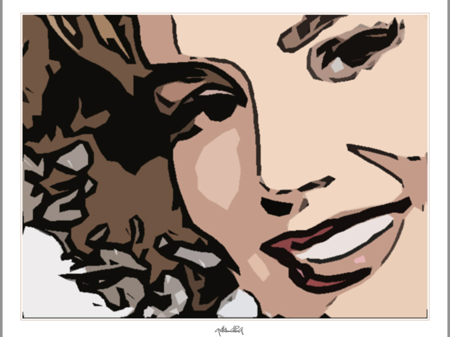 Portrait, Grafik, Kunstdruck