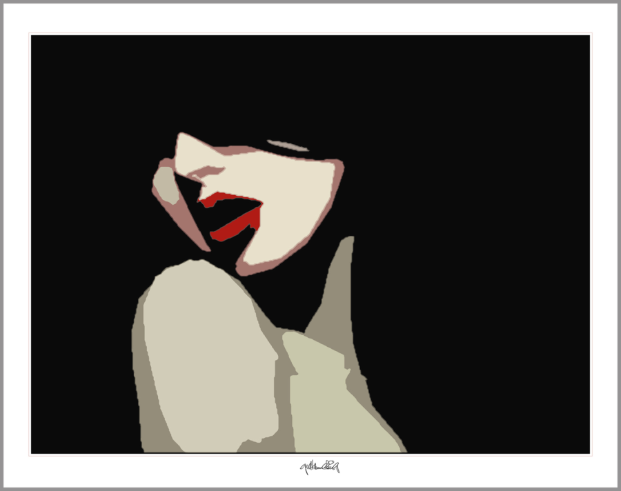 erotische rote Lippen