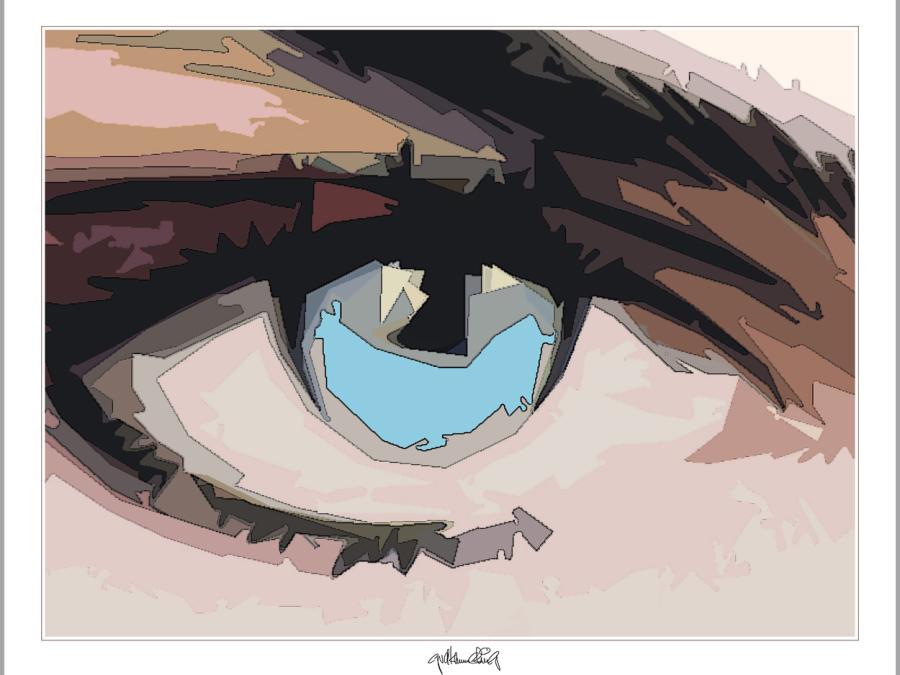 Blaue Augen, Wandbilder für Augenärzte und Augenarztpraxen, Einrichtung Arztpraxis,
