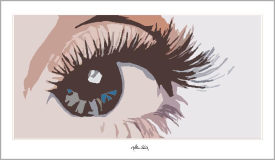 Tolle Augen, schöne Augen, erotische Augen, blaue Augen, Augen, lange Wimpern, große Augen,