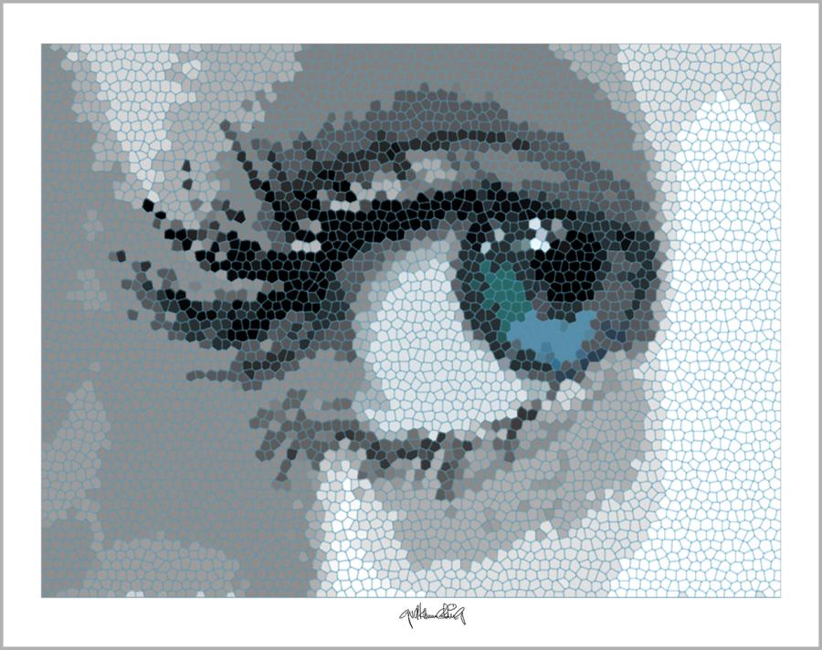 Augen-Kunstobjekte, erotische Augen, blaue Augen, Auge und Kunst,