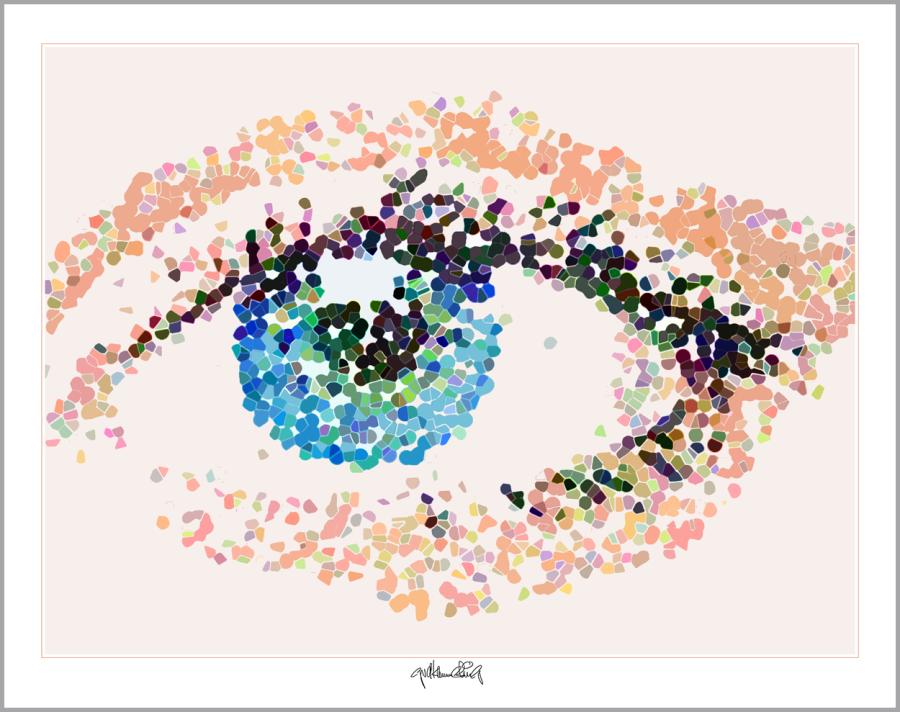 Kunst Augenpraxen, Kunst Augenklinik, Kunst-Auge, Augenarzt Wartezimmer, Kunst für Augenärzte