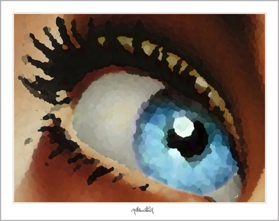 blaue Augen, Wandbild, Kunst, Augenpraxis, Eingangsbereich, Wartezimmer