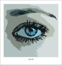 blaue Augen, zeitgenössische Kunst, moderne-Pop Art, Bilder fürs Wartezimmer,