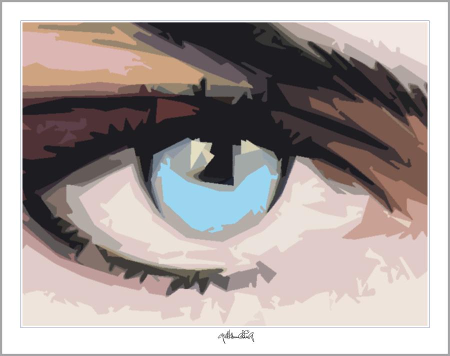 Auge und Kunst, blaue Augen, Rezeption Augenarzt